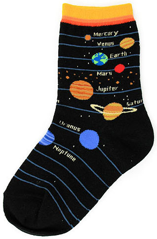 FT6838Y FootTrafic Youth Planet Socks