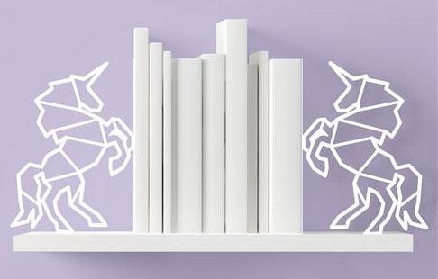 MU1BEUNW UnicornBookEnds