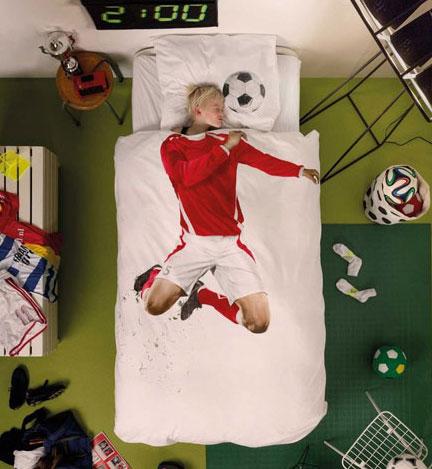 SNURK QuiltSet SoccerRed2