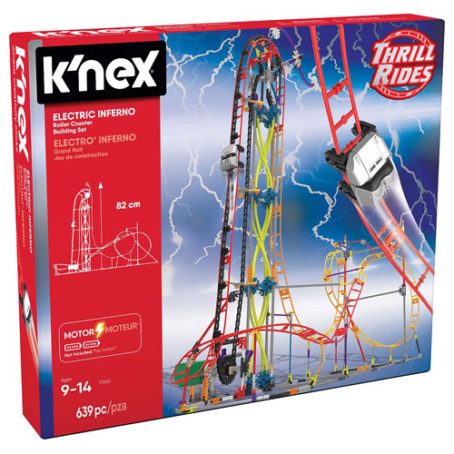 K'Nex Thrill Ride Series : Electro Inferno Roller Coaster Set (9+ yrs)