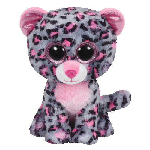 Ty Beanie Boos - Tasha the Pink and Grey Leopard (Regular)