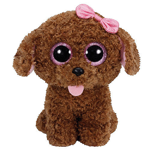 Ty Beanie Boos - Maddie Brown Dog with Bow (Medium)