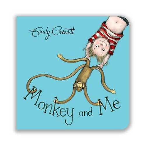 Monkey and Me by Emily Gravett (Board book)