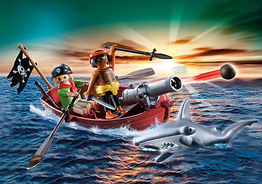 Playmobil Row Boat with Shark