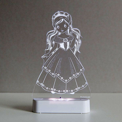 Aloka SleepyLight LED Night Light (Dual powered - Battery or USB) - Princess