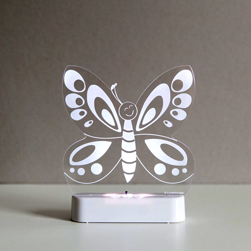 Aloka LED Nightlight (Battery and USB version) - Butterfly