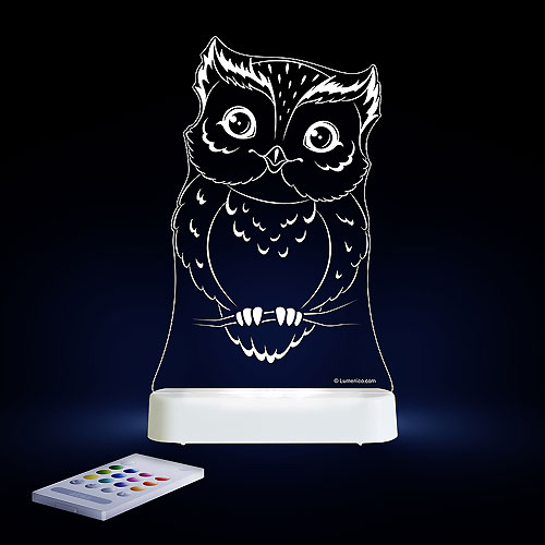 Aloka LED Nightlight (Battery and USB version) - Owl (New Design)