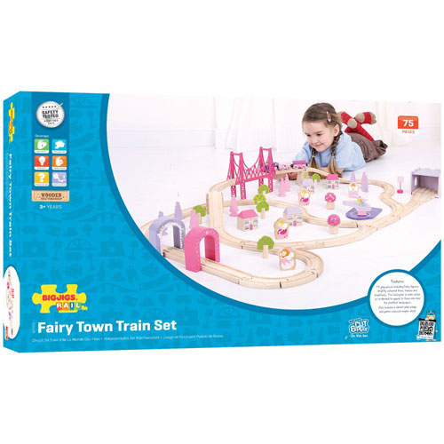 Fairy Town Train Set by BigJigs (75 pieces)