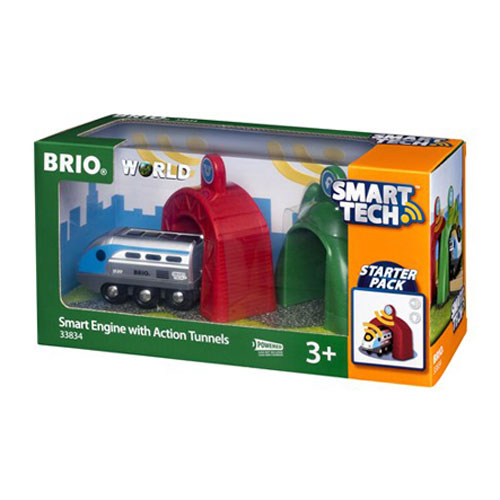BRIO Smart Tech Train with Action Tunnels (3 pieces)