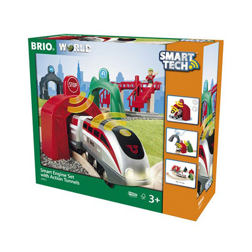 BRIO Smart Tech Train Set with Action Tunnels (17 pieces)