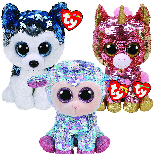 Ty Flippables Sequin Beanie Boos (Regular size)