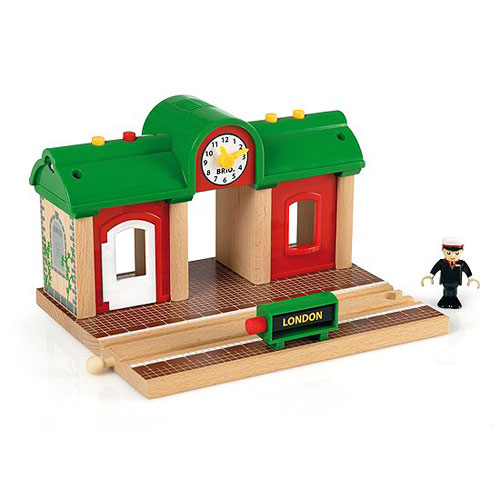 BRIO Record and Play Railway Station (3 pieces)
