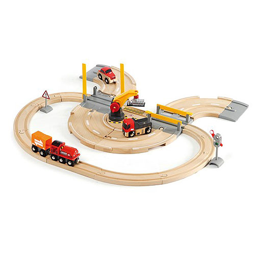 BRIO Rail & Road Crane Set (26 pieces)