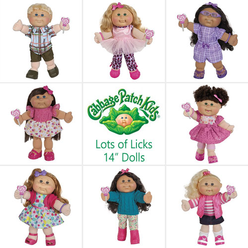 Cabbage Patch Kids 14 inches Lots-of-Licks Doll Selection