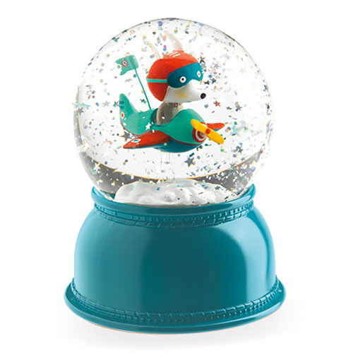 Djeco Airplane Snow Globe Night Light