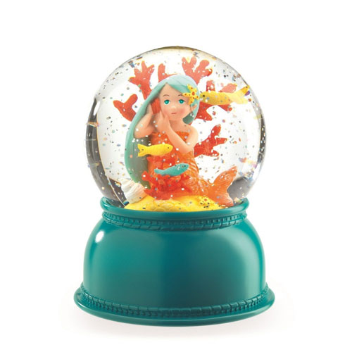 Mermaid Snow Globe Night Light by Djeco