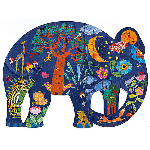 Djeco Elephant Shaped Puzzle (150 pieces, 6+ yrs)