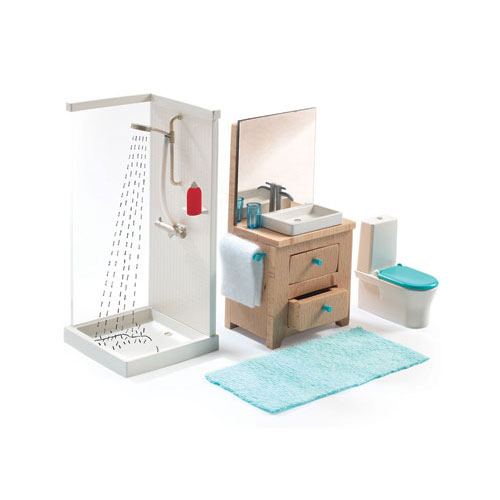 Djeco Dollhouse Furniture Bathroom