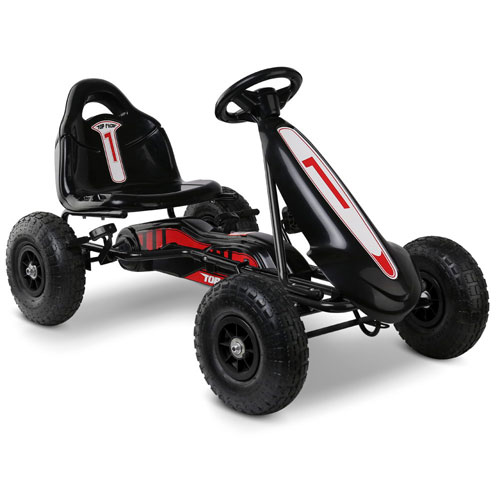 Rigo Kids Pedal Go Kart - No 1 - Black (3+ years)