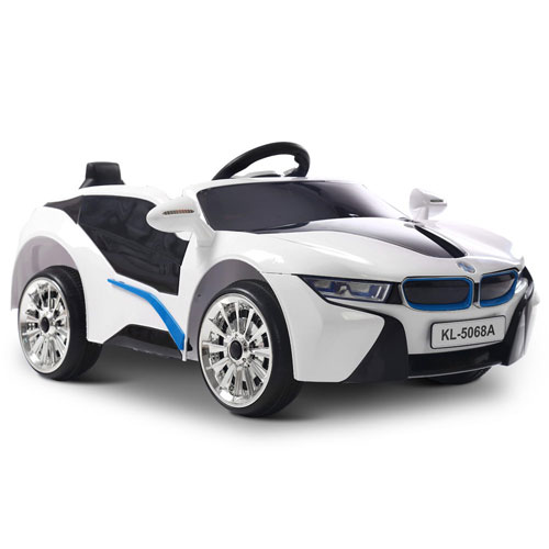 Bmw I8 Inspired White Ride On Kids Car