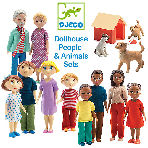 Djeco Dollhouse People And Animals Sets Selection