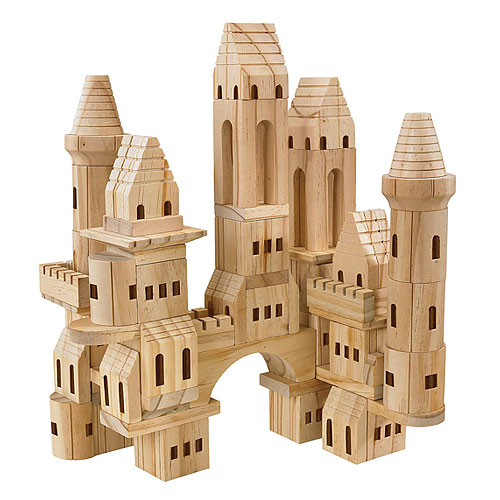 F.A.O. Schwarz 75-Pieces Solid Wood Castle Blocks (4+ years)