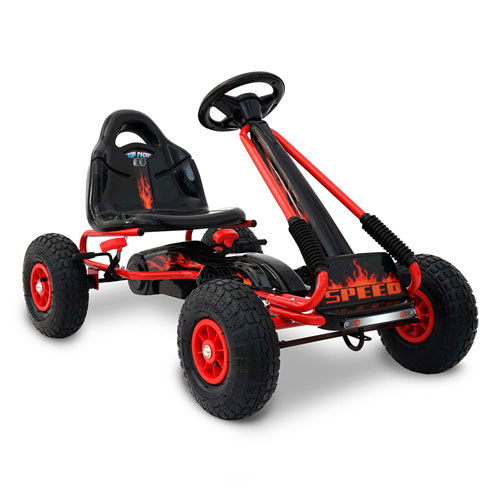 RIgo Kids Pedal Go Kart - Red (3+ years)