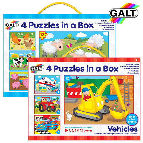 Galt Four Puzzles In A Box (3+ yrs)