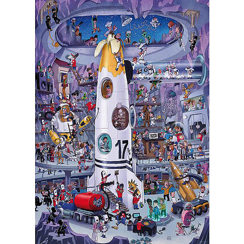 Heye Puzzle - Rocket Launch by U Oesterle (1000 pieces)