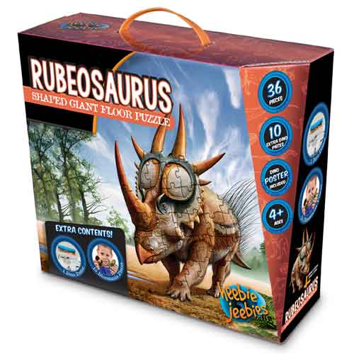 Heebie Jeebies Rubeosaurus Shaped Floor Puzzle (36 pieces)