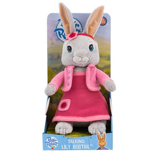 Peter Rabbit - Talking Lily Bobtail Plush (25cm)