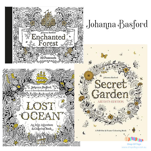 Johanna Basford Colouring Books, Postcards and Posters Selection