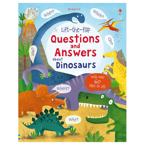 Usborne Lift-The-Flap: Questions and Answers about Dinosaurs (3+ yrs, Board book)