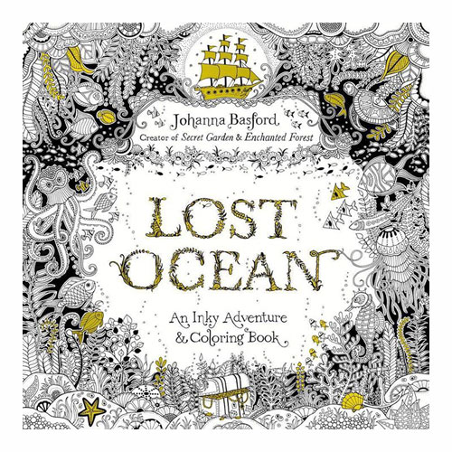 Lost Ocean: An Inky Adventure Colouring book by Johanna Basford