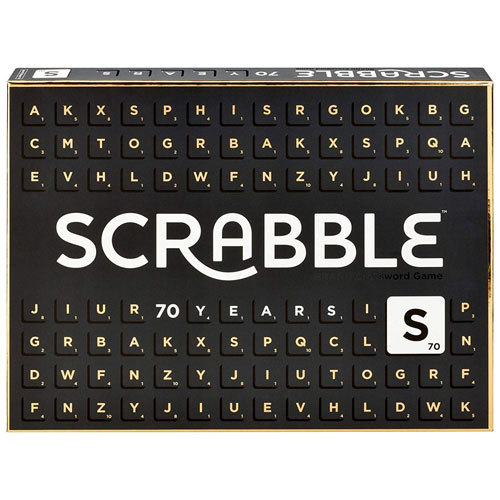 Scrabble 70th Anniversary Edition (10+ yrs, 2-4 players)