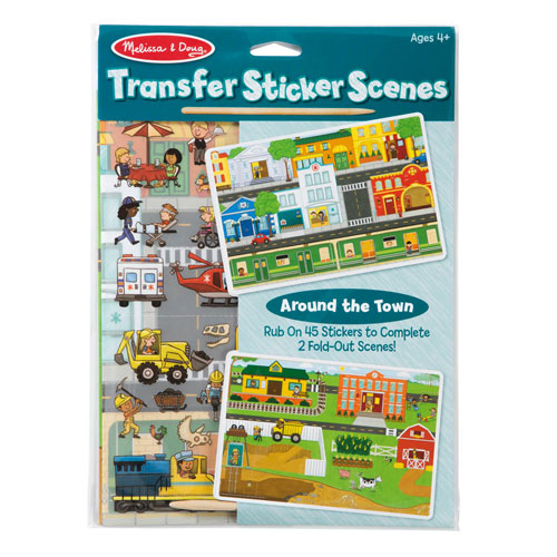 Melissa & Doug Transfer Sticker Scenes - Around the Town (45 transfer stickers)