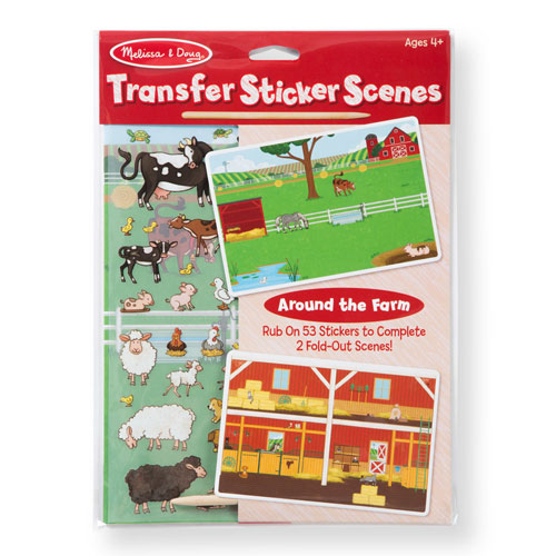 Melissa & Doug Transfer Sticker Scenes - Around the Farm (53 transfer stickers)