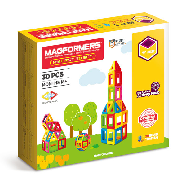 My First Magformers 30 Pieces Set (18+mths)