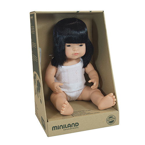 Miniland 38cm Baby Dolls - Asian Girl