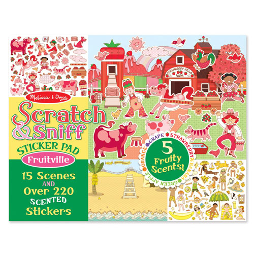 Melissa & Doug Scratch and Sniff Sticker Pad: Fruitville (Over 220 scented stickers)