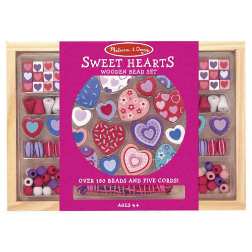 Melissa & Doug Wooden Sweet Hearts Bead Set (4+ years)