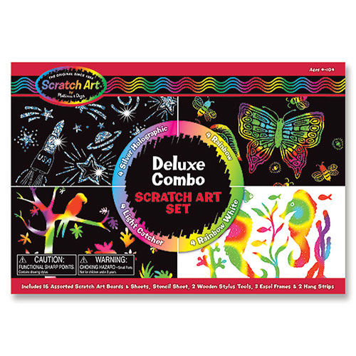 Melissa & Doug - Scratch Magic Deluxe Kit (4+ yrs)
