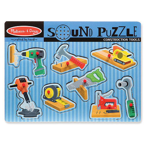 Melissa and Doug Sound Puzzles - Construction Tools (8 pieces)