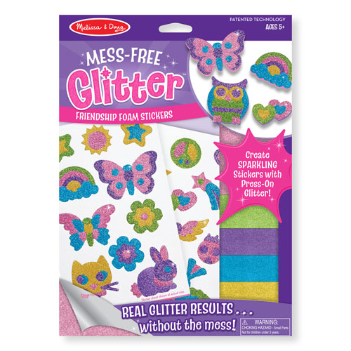Melissa & Doug Mess-Free Glitter- Friendship Foam Stickers (5+ years)