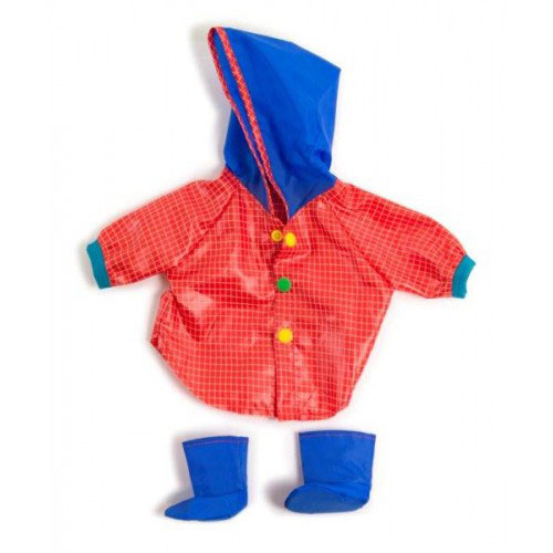 Miniland 38-42cm Doll Clothes Set - Raincoat & Wellies