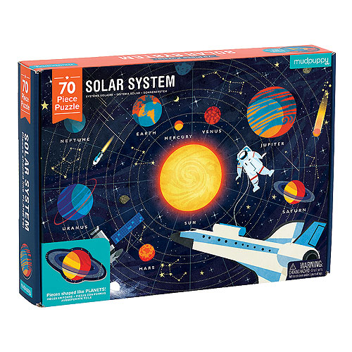 Mudpuppy Geography Puzzle - Solar System (70 pieces, 5+ yrs)