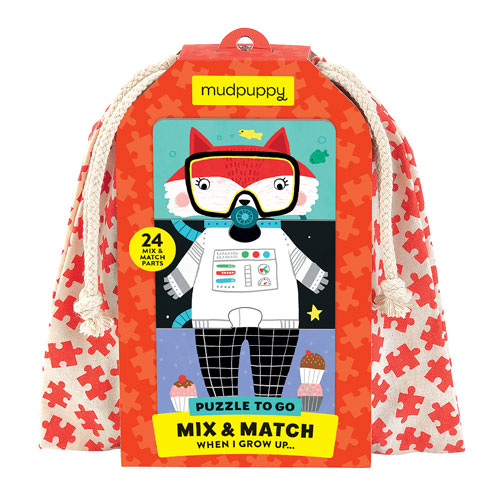 Mix & Match To Go Puzzle - When I grow up (24 Mix and Match Pairs, 2+ yrs)