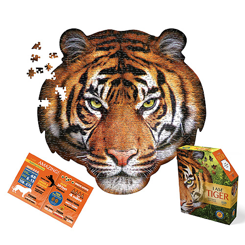 Madd Capp Shaped Puzzle - I am a Tiger Puzzle (550 pieces)