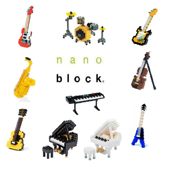 Nanoblock Musical Instruments Selection