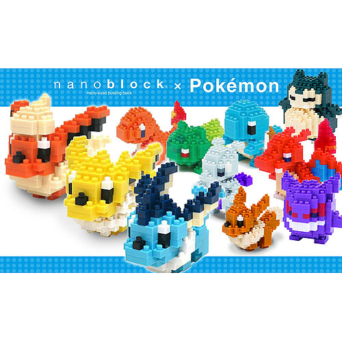 Nanoblock Pokemon Selection